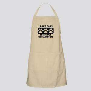 I Love Cats People Annoy Me Apron