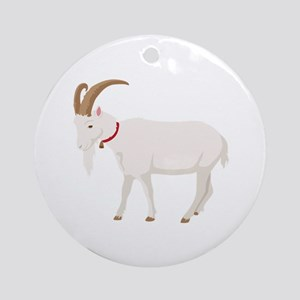 Goat Round Ornament