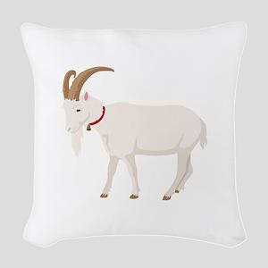Goat Woven Throw Pillow