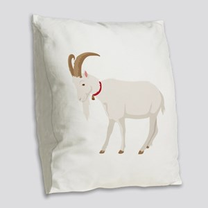 Goat Burlap Throw Pillow