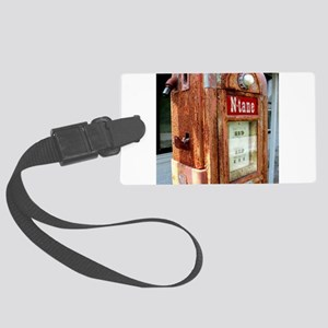 N tane antique gas pump. Large Luggage Tag