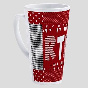 RTR houndstooth 17 oz Latte Mug