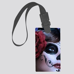 Oval framed face Large Luggage Tag