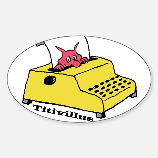 Titivillus, the Typo Monster. Decal
