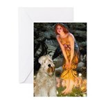 Fairies & Wheaten Terrier Greeting Cards (Pk of 20
