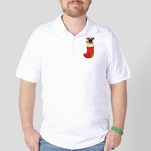 Christmas Pug Golf Shirt