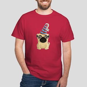 Happy Birthday Pug Dark T-Shirt