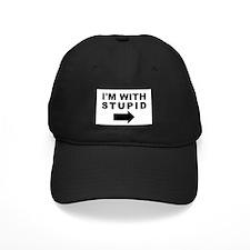 I'm With Stupid Black Cap
