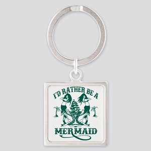 Mermaid Square Keychain