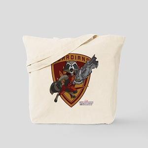 GOTG Animated Rocket Badge Tote Bag