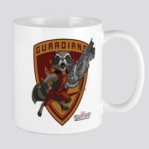 GOTG Animated Rocket Badge Mug