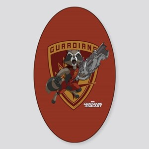 GOTG Animated Rocket Badge Sticker (Oval)