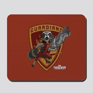 GOTG Animated Rocket Badge Mousepad