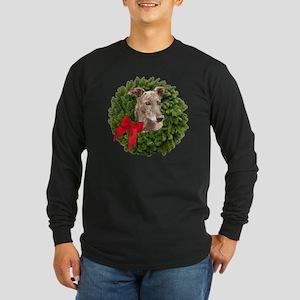 Greyhound in Christmas Wr Long Sleeve Dark T-Shirt