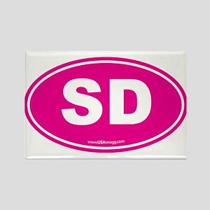 South Dakota SD Euro Oval Rectangle Magnet