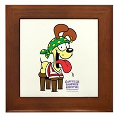 Odie The Stupid Framed Tile