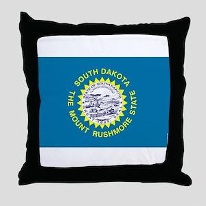 South Dakota State Flag 3 Throw Pillow