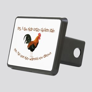 Crazy Chicken Lady Hitch Cover