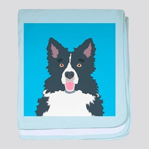 Border Collie baby blanket