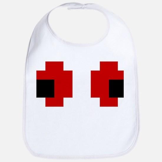 8 Bit Spooky Red Eyes Bib