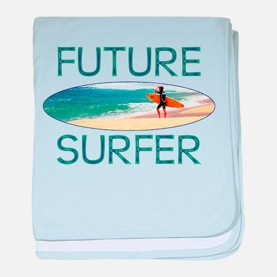 Future Surfer baby blanket