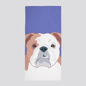 Bulldog Beach Towel