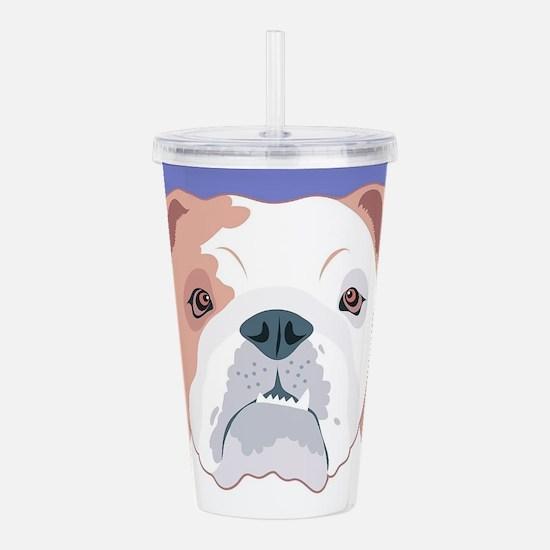 Bulldog Acrylic Double-wall Tumbler