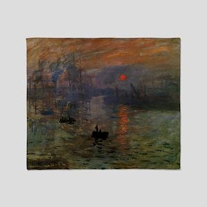 Impression, Sunrise by Claude Monet Throw Blanket