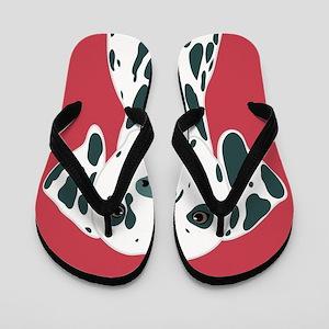 Dalmatian Flip Flops