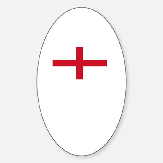 Flag And Name Sticker (Oval)