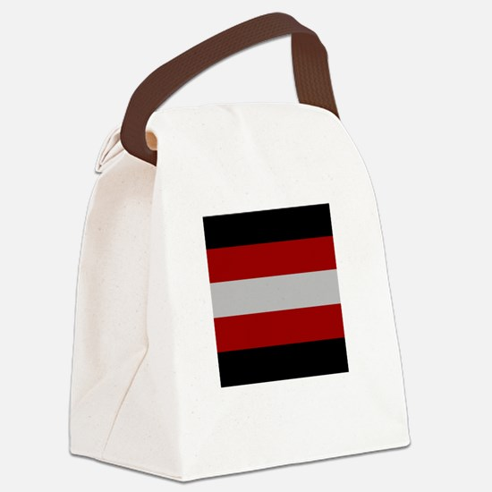 Flag And Name Canvas Lunch Bag