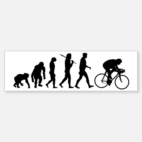 Cycling Evolution Sticker (Bumper)