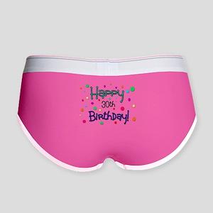 Happy 30th Birthday Women's Boy Brief