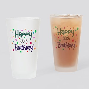 Happy 30th Birthday Drinking Glass