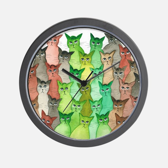 Funny Cats meowing Wall Clock