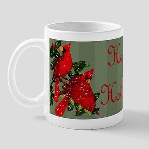 Snow Cardinals Mug