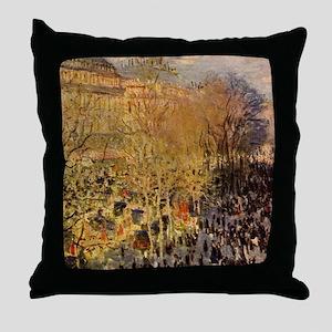 Boulevard des Capucines by Claude Mon Throw Pillow