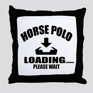 Horse Polo Loading Please Wait Throw Pillow