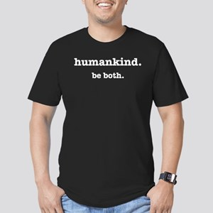 HumanKind. Be Both Men's Fitted T-Shirt (dark)