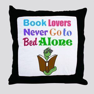 Bookworm Lovers Throw Pillow
