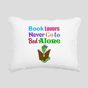 Bookworm Lovers Rectangular Canvas Pillow