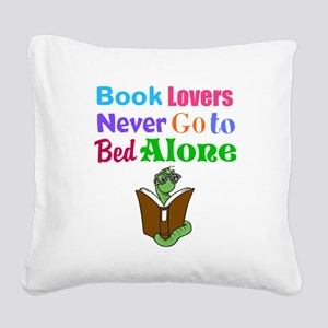Bookworm Lovers Square Canvas Pillow