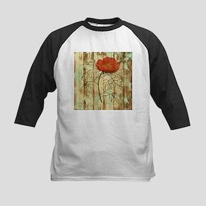 rustic paris poppy flower Baseball Jersey