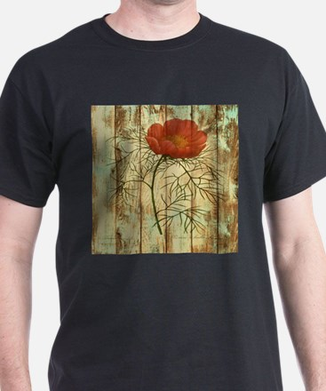 rustic paris poppy flower T-Shirt