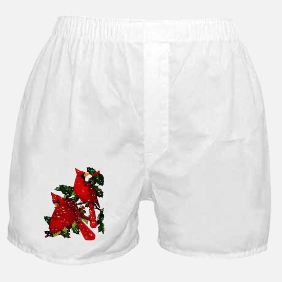 Snow Cardinals Boxer Shorts
