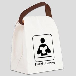 Fluent in Dewey Canvas Lunch Bag