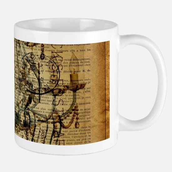 french scripts vintage chandelier Mugs