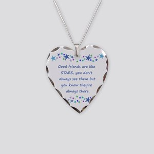 Good Friends Are Like Stars Necklace Heart Charm