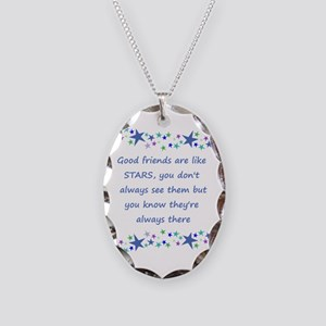 Good Friends Are Like Stars Necklace Oval Charm