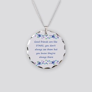 Good Friends Are Like Stars Necklace Circle Charm
